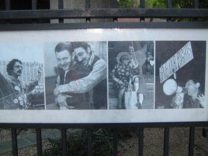 Framed at the Harvey Milk Memorial on Castro St, San Francisco, CA. Photo by: Geena Russo